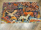 C1930 VEGDY ANTIQUE PERSIAN  GHOM TREE OF LIFE HUNTING 2.1x3.4 ESTATE SALE  RUG