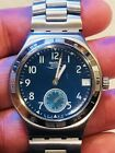 2004 Swatch Irony Stainless Steel  Sub Dial Date New Battery Runs Great