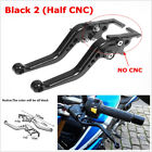 2 Pcs Black CNC Aluminium Alloy Motorcycle Double Disc Brake Modification Lever