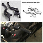 One Pair Universal CNC Motorcycle ATV Double Disc Brake Modification Lever Black