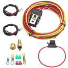 Dual Electric Cooling Fan Control Harness Wiring Kit 40 Amp Relay 185 165 Degree