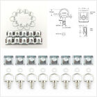 10 Pcs 17mm Universal Motorcycle 1/4 Turn Quick Release Fairing Fasteners Silver