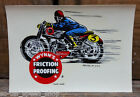 ORIGINAL VINTAGE WYNN'S FRICTION PROOF DECAL MOTOTCYCLE RACING AMA OLD MC CAFE