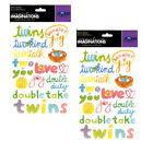 Creative Imaginations Twins Epoxy Scrapbooking Stickers Baby 2 Pack NEW