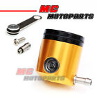 Gold CNC Billet Fluid Reservoir Brake Clutch For Motorcycle Buell
