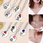 12 Constellations Signs Of The Zodiac Crystal Pendants Necklace Charm Jewelry