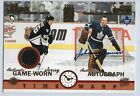 03 04 Exhibit Time Warp Auto Jersey Mario Lemieux Johnny Bower 565 Leafs Pengui