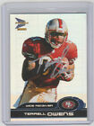 TERRELL OWENS 49ers SIGNED 2000 Pacific Prism Football 83 Autograph ON CARD AUTO