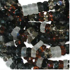 60 Pebblestone Mix Czech Glass 6mm Flat Faceted Rondelle Disc Beads