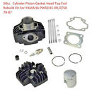 50cc Stock Cylinder Head Piston Assembly Kit for Yamaha PW50 81 09 QT50 79 87