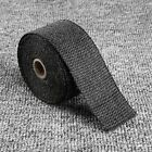 5M Mototcycle Black Cloth roll Exhaust Pipe Heat Shield Wrap Tape Stainless Tie