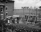 Lincoln Assassination Conspirators Hooded Bodies 1865 8x10 US Civil War Photo