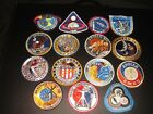 VERY UNCOMMON SET OF 15 VTG NASA APOLLO LION BROTHERS SEW ON MISSION PATCHES