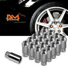 M12X125 Gunmetal JDM Open End Acorn Hex Wheel Lug Nuts+Extension 25mmx50mm 20Pc