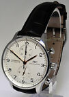 IWC 3714 Portuguese Chronograph Mens Steel Automatic Watch Box/Papers  IW3714
