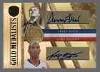 2010-11 Gold Standard Kobe Bryant Jerry West Gold Medalists Dual Auto #19 25