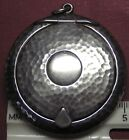 STERLING SILVER .925 FACE POWDER COMPACT - PENDANT - PROOF MARKS INSIDE SHOWN
