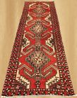 Amzaing Hand Knotted Semi Antique Persian Hamadan Wool Area Runner 9.5 x 3.3