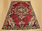 Distressed Hand Knotted Antique Persian Tabriz  Wool Area Rug 6.6 x 4.2 Ft
