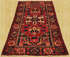 Hand Knotted Semi Antique Persian Bakhtiar Bakhtiari Wool Area Rug 7 x 4 (3629)