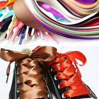 12m Hot New Sneakers Wide Flat Strings Strap Candy Colors Ribbon Shoe Lace