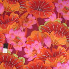 Kaffe Fassett GP93 Lake Blossoms Red Cotton Fabric By The Yard