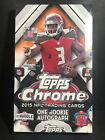 NEW SEALED 2015 Topps Chrome Football Hobby Box - 24 Packs 4Cards - 1 AUTOGRAPH