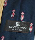 vintage GIVENCHY Navy RED grenadine Native MEDICINE MAN Chief silk blend TIE NEW