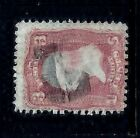 1800s USA Stamp w Fancy Cancel Large Letter L w SerifsP