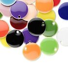 120 Silver Plated Brass  Epoxy 12mm Round Drop Charms Mix
