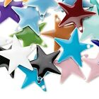 120 Silver Plated Brass  Epoxy 17x17mm Star Charms Mix