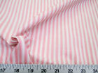 Discount Fabric Upholstery Drapery Ticking Stripe Pink and White KK30