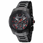 DETOMASO TOUGH GUY Mens Automatic Watch Black Red Multifunction New