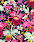 ORCHIDS Black Kaffe Fassett Fabric By the Half Yard