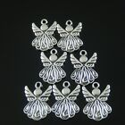 37118 Antiqued Silver Alloy Cute Angel Wing Charms Pendant Crafts 20 pcs
