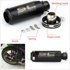 Black Stainless Steel Motorcycles Modified Exhaust Pipe Muffler Pipe 51mm Inlet