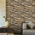 1M 3D Wall Sticker Brick Stone Rustic Effect Self adhesive Wall Paper Home Decor
