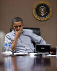PRESIDENT OBAMA SITUATION ROOM CONFERENCE CALL 8x10 SILVER HALIDE PHOTO PRINT