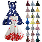 Women Vintage 50s 60s Retro Style Rockabilly Pinup Housewife Party Swing Dresses