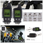 2-Way Motorcycle LCD Antitheft Alarm System Immobiliser Engine Start Remote Fobs