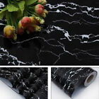 Black marble Sticker Kitchen oil Sticker Bathroom Table Barble self-adhesive