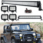 52Inch LED Light Bar Combo + 22 + 4 18W PODS Fit Jeep Wrangler JK YJ TJ CJ LJ