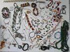 LARGE LOT VINTAGE COSTUME JEWELRY ESTATE SIGNED GLASS RINGS BRACELETS NECKLACES