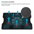 Fan Laptop Cooler Cooling Mat Stand For 12 154 156 inch Pad Notebook Black