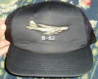 Black snapback baseball cap hat B 52 Plane embroidery design one size fits mo