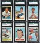 1967 Topps Collection (414 cards) Including Partial Set (232 609) w 48 SGC