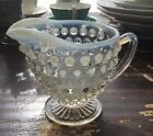 Vintage Anchor Hocking Moonstone Hobnail Creamer Beautiful!