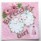 Birthday Girl Single 12 x 12 Premade Scrapbook Page By Roses Creative Studio