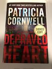 Kay Scarpetta Depraved Heart by Patricia Cornwell 2015 Hardcover SIGNED