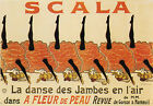 SCALA DANCING MOULIN ROUGE PARIS FRENCH FRANCE VINTAGE POSTER REPRO SMALL